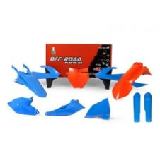 New Plastic Kit KTM SX 85 2018 2019 18 19 Racetech Plastics Orange Blue TLD Rep